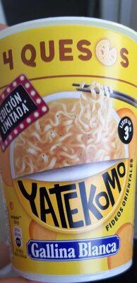 Yatekomo fideos orientales instantáneos 4 quesos vaso 80 g - Produit - es