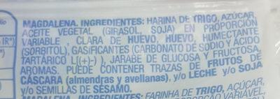 Magdalena Larga - Ingredientes