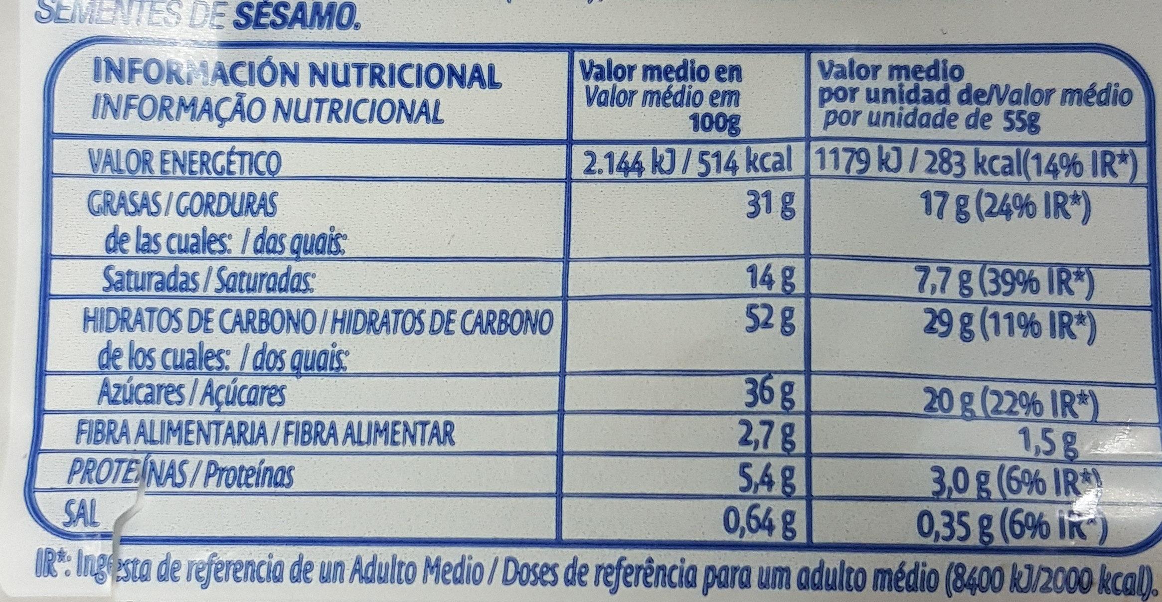 Discos de cacao - Informations nutritionnelles - es