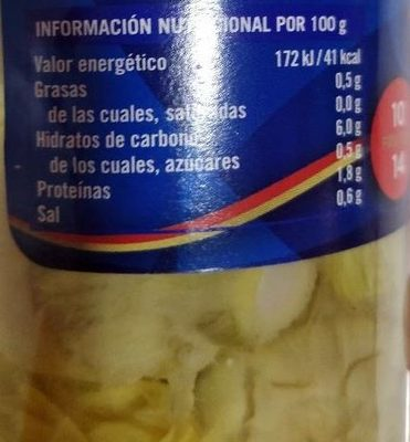 Corazones Alcachofa Cidacos En Conserva Frasco - Informació nutricional