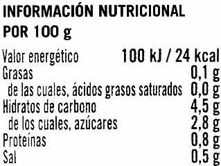Tomte tritutado extra - Información nutricional - es