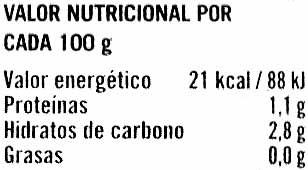 Rovellones - Informació nutricional