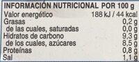 Pimiento del piquillo - Información nutricional - es