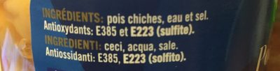 Pois chiches - 570 g - Cidacos - Ingrédients - fr