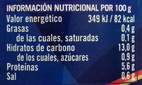 Lentejas - Nutrition facts