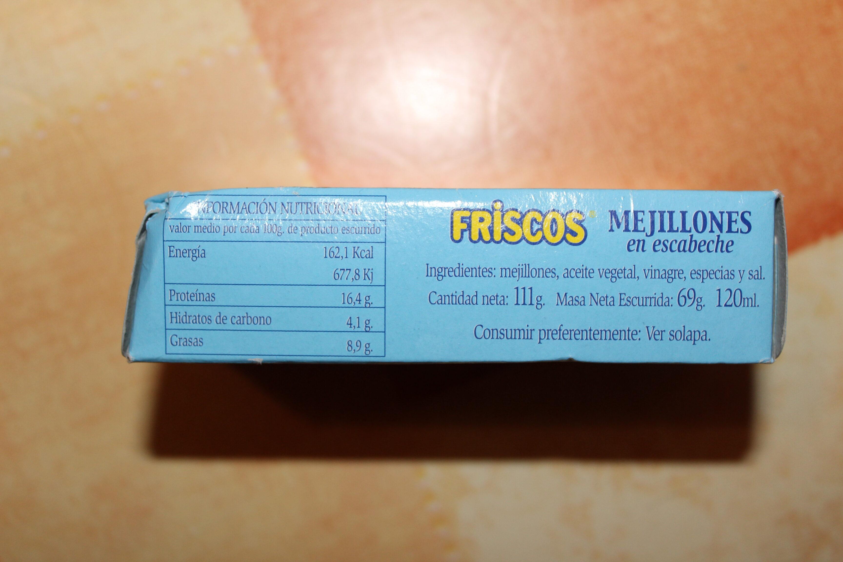 Mejillones en salsa de escabeche - Ingredientes - es