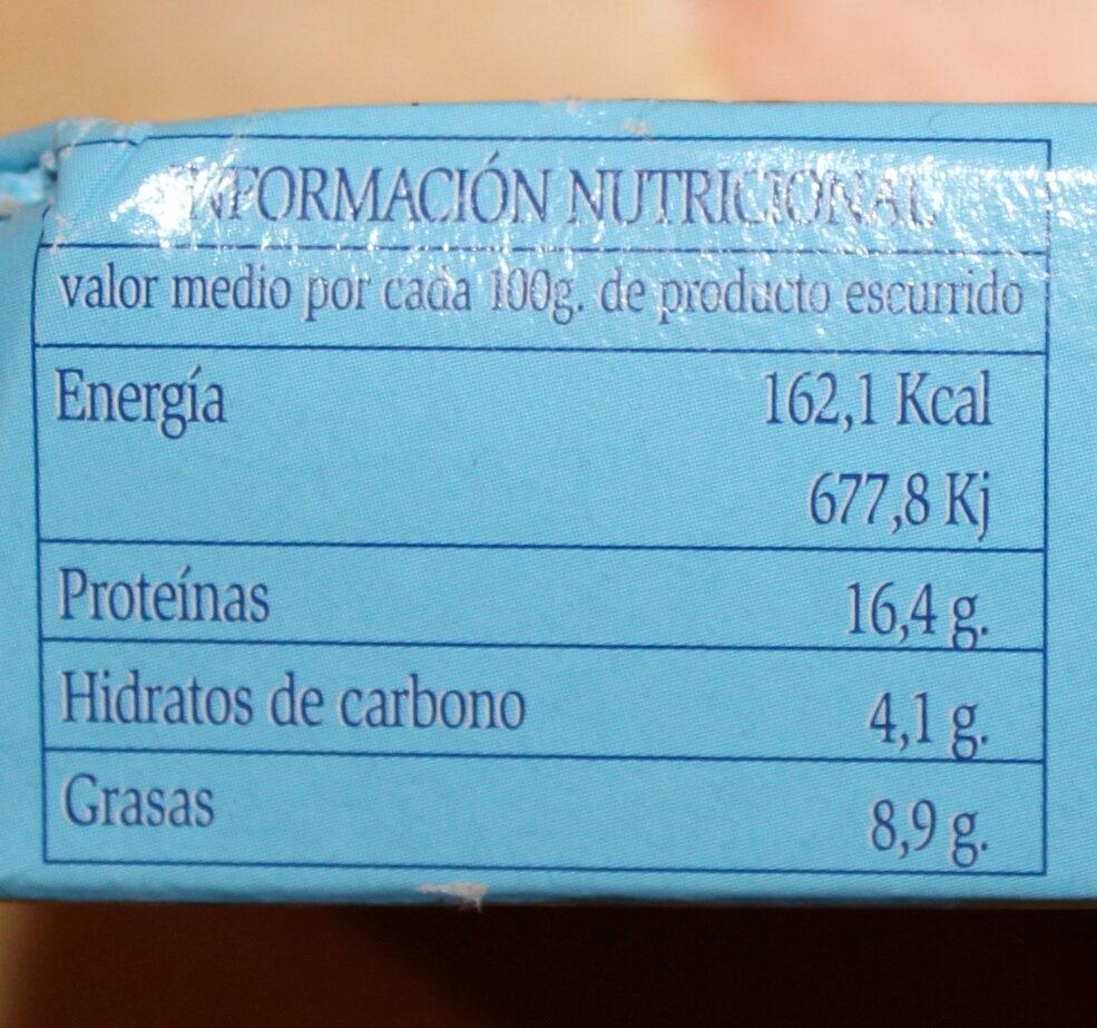 Mejillones en salsa de escabeche - Información nutricional - es