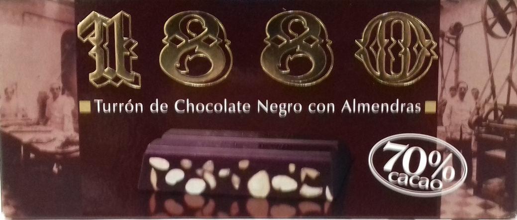Turrón de chocolate negro con almendras - Producto - es