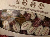 Polvorones de almendra con pepitas de chocolate negro - Produit - es