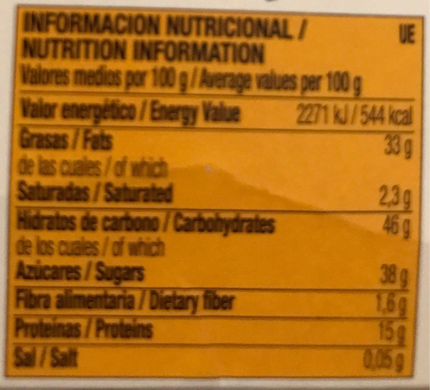 Turrón Alicante - Informations nutritionnelles - fr