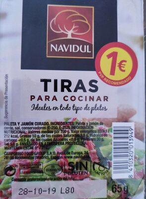 Tiras de paleta y jamón curado sin gluten sin lactosa - Product