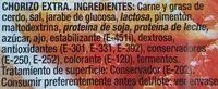 Taquitos de Chorizo - Ingrediënten - es
