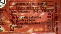 Chorizo Revilla Tradicional Lonchas 85GR - Informations nutritionnelles - es