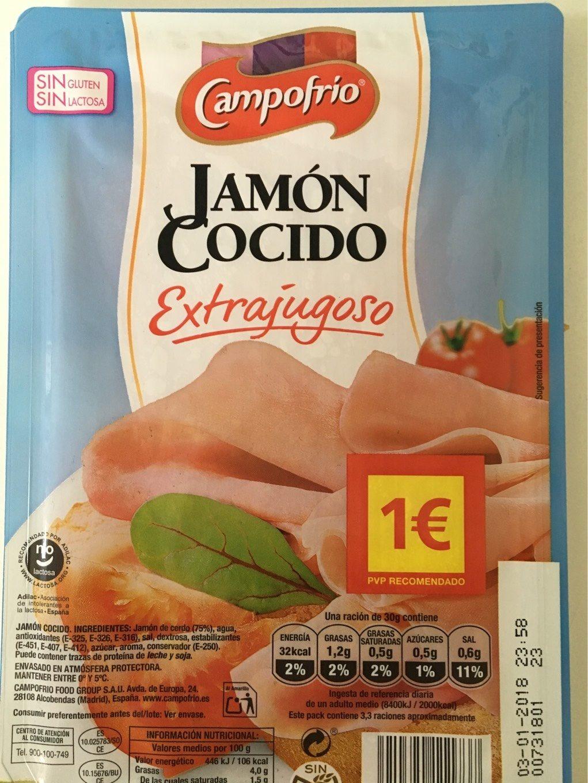 Jamón cocido lonchas sin gluten sin lactosa - Product - es