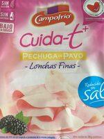 Cuida-t+ pechuga de pavo bajo grasa y sal lonchas - Producte - es