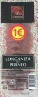 Longaniza del pirineo lonchas sin gluten - Product - fr