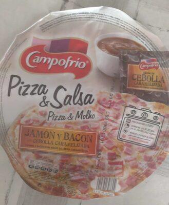 Pizza & salsa jamón y bacón