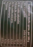 Arroz integral - Informació nutricional - es