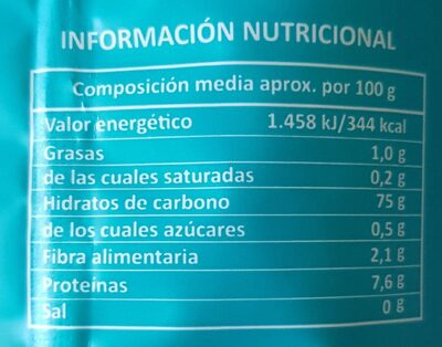 Arroz - Valori nutrizionali - fr