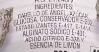 Dulce de cabello de Ángel - Ingrédients