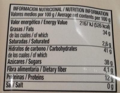 Empiñonadas - Información nutricional