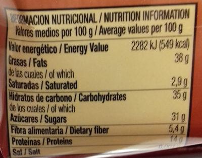 Almendrados de mazapán - Informació nutricional