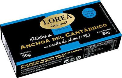 Gourmet filetes de anchoa del cantábrico bajo - Producto - es