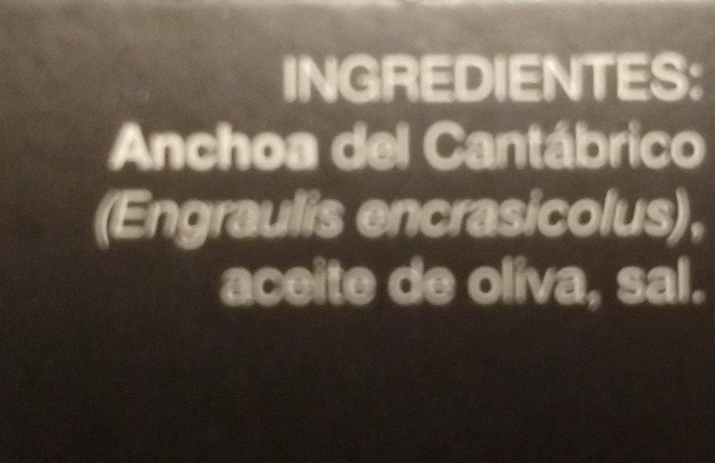 Gourmet filetes de anchoa del cantábrico bajo - Ingredientes - es