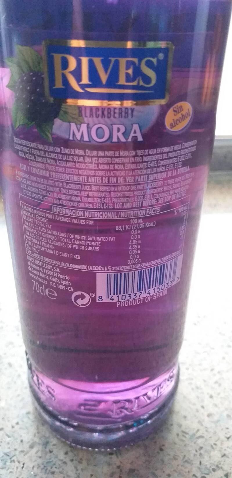 Licor concentrado mora sin alcohol - Product