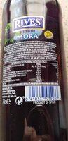 Licor concentrado mora sin alcohol - Ingrediënten