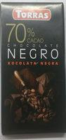 Chocolate negro 70% - Product - es