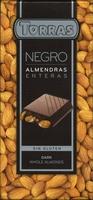 Tableta de chocolate negro con almendras 40% cacao - Product - es