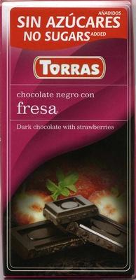 Tableta de chocolate negro edulcorado con fresa 50% cacao - Producto