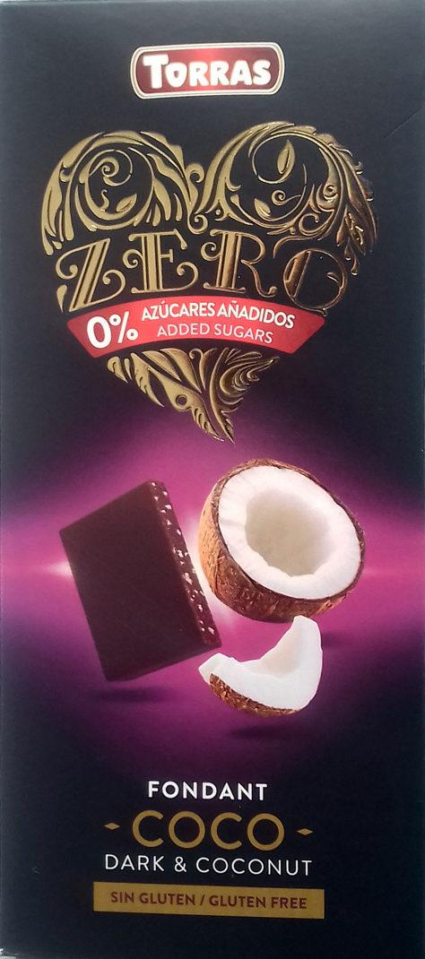 Chocolate Zero Fondant Coco 0% azúcares añadidos - Producte - es