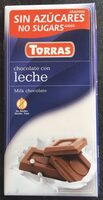 Chocolate con leche torras - Product - en