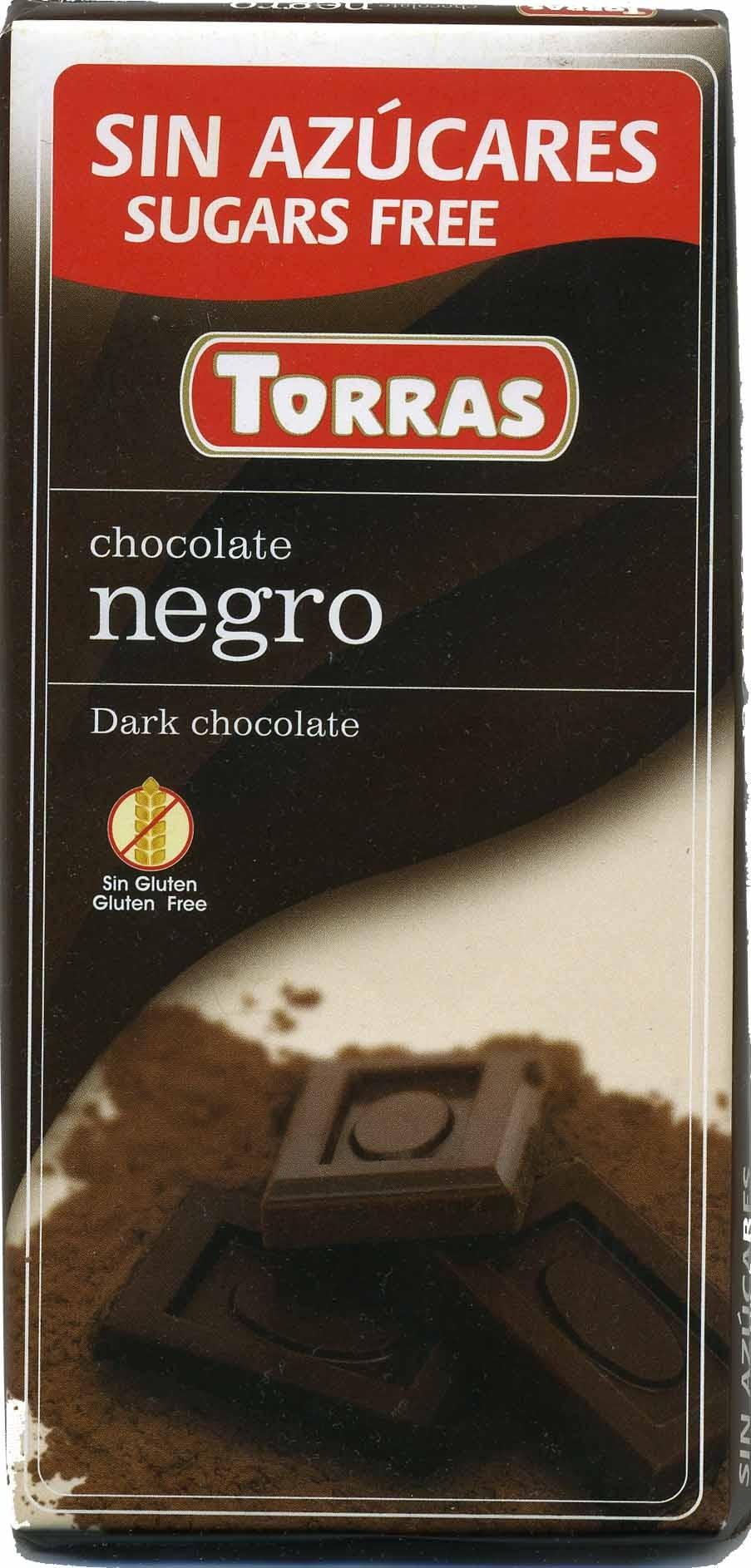 Tableta de chocolate negro edulcorado 52% cacao - Product - es