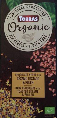 Xocolata Negre Amb Sèsam Torrat I Pol ·len Eco Torras - Producte