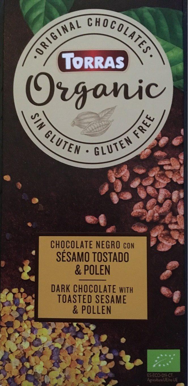 Organic chocolate negro con sésamo tostado y polen - Produit - fr