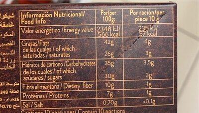 Flor de sal negro 70% - Informazioni nutrizionali - fr