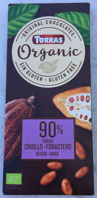 Organic chocolate criollo negro cacao ecológico y sin gluten - Product