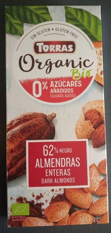 Organic bio chocolate negro con almendras enteras - Producte