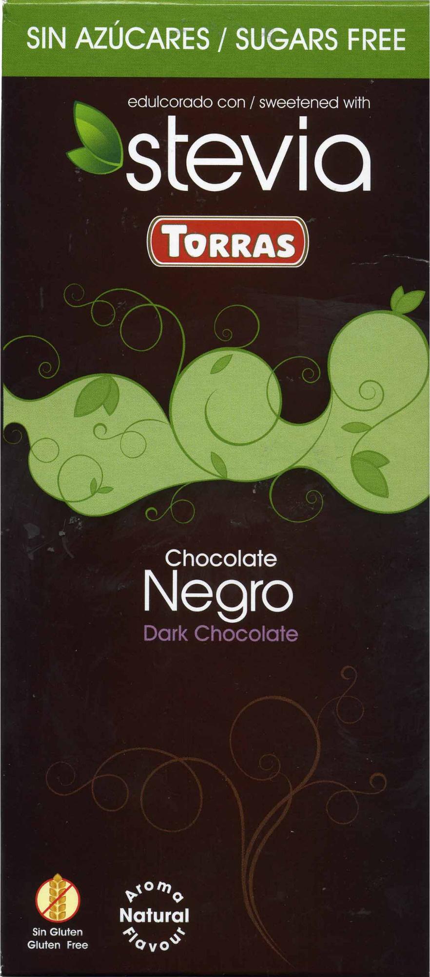 Tableta de chocolate negro edulcorado con estevia 60% cacao - Producto - es