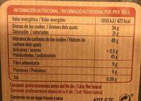 Torras No Added Sugar Dark Cooking Chocolate Bar (Pack Of 5) - Informació nutricional - fr