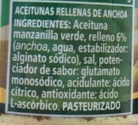 El Serpis Anchoa Olives 125 Gram - Ingredients