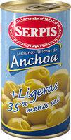 Aceitunas rellenas de anchoa ligeras - Producte - fr