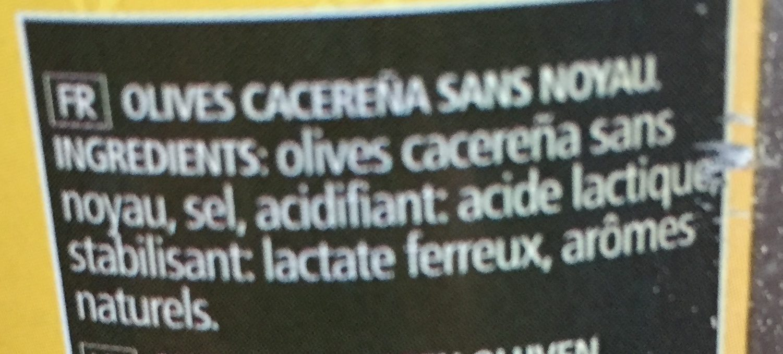 Aceitunas negras cacereñas sin hueso - Ingrédients - fr