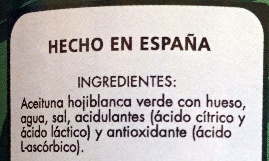 Aceitunas Verdes con Hueso - Ingrédients - es