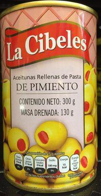 Aceitunas rellenas de pasta de pimiento - Producto