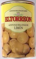 Aceitunas rellenas de limón - Producto