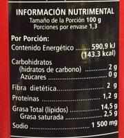 Sabores Queso Azul - Informations nutritionnelles - es